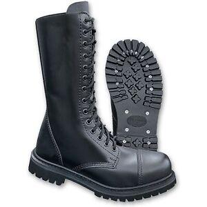 Brandit Phantom Boots 14 Loch 9003 Springer Stiefel Rangers Stahlkappe Schwarz