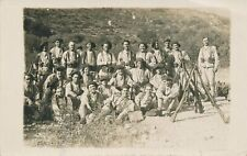 SPAIN ESPAGNE MILITARY REAL PHOTO POSTCARD CIVIL WAR ? SOLDIERS
