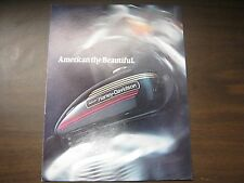 1974 HARLEY SALES BROCHURE BI-FOLD THE GREAT AMERICAN FREEDOM MACHINES FOR 1974