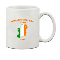 Worlds Coolest IRISH Dad Ceramic Coffee Tea Mug Cup