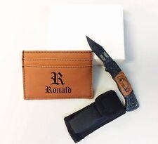 Personalized Gift Set, Groomsmen Gift, Money Clip, Pocket Knife, Engraved Gift