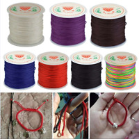 DIY 0.8mm Nylon Cord Thread Chinese Knot Macrame Rattail Bracelet Braided String