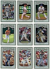 2013 Topps Gypsy Queen Base Card SP Short Print You Pick Finish Your Set #34-66