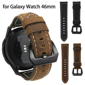 For Samsung Galaxy Watch 46mm R800 Genuine Leather Wrist Band Replacement Strap