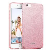 Handy Hülle iPhone 6 6S Plus 5,5 Schutz Hülle Silikon Cover Glitzer Case Tasche