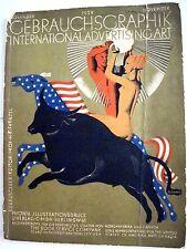 "Art Deco Nov.1928 ""International Advertising Art"" Book w Artists & Their Works *"
