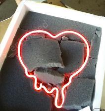 "New Make Your Heart Melt Pink Neon Sign Acrylic Gift Light Lamp Bar 14""x10"""