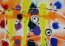 Abstrakte zeitgenössische künstlerische Malerei-Holz
