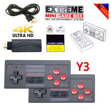Retro TV Game Stick Mini HDMI 4K Console 628 Built-in Games 2 Gamepad for Gift