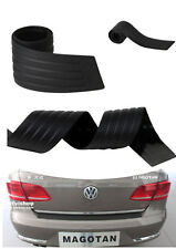 1pc Car Rear Box Bumper Black Rubber Groove Design Protector Strip Anti-Scratch