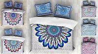 Indian Mandala Twin Size Cotton Donna Duvet Cover With Pillow Cover Handmade