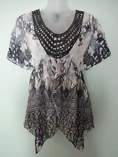 SALE-Style&co.Chiffon Top- PP-$49- Bling Sequin Top