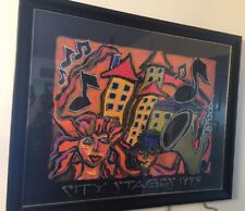 Susan Oliver City Stage City Limited Edition Color Lithograph 204/5000 Framed