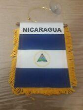 New listing República de Nicaragua patriotic pride orgullo bandera mini Flag Windows cars