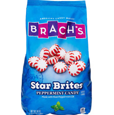 Brach's Star Brites Peppermint Candy 58oz Hard Candy Wrapped,  NEW