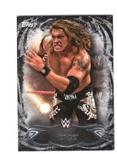 WWE Edge #85 2015 Topps Undisputed Black Parallel Base Card SN 88 of 99