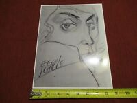 VINTAGE RARE PHOTO of ART of EGON SCHIELE AUSTRIAN PAINTER KLIMT protege #lob-G