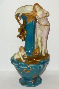 Old Schwarza Saalbahn Art Nouveau Vase Porcelain Figurine