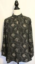 MARCO POLO PICCOLO ~ Black Cream Geometric Dot Print Viscose Tunic Shirt 16