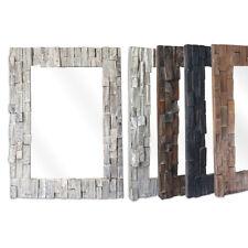 Wandspiegel Holz Mosaik Spiegel Rahmen Hängespiegel Natur Unikat Badspiegel