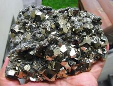 PYRITE PENTADODECAHEDRAL with SECOND GENERATION ATTACHED CRYSTALS from PERU