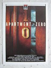 Filmplakatkarte videoplus  Apartment Zero  Hart Bochner, Colin Firth
