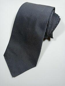 Ralph Lauren Purple Label Wide Black and Silver Silk Hand Made Tie.  England