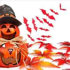 12pcs 3D red Bat Diy Wall Sticker Decal Halloween Party Festival Decoratio