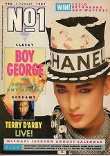 Boy George on Magazine Cover 1987  Kim Wilde Wet Wet Wet Michael Jackson Sam Fox
