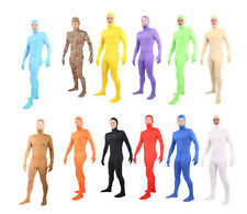 Free Shipping Unitard Lycra Spandex Zentai Body Suit Open Face Out - Back Zip