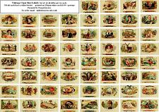 VINTAGE CIGAR BOX LABELS-60 ALL DIFFERENT A6 ART CARDS