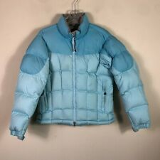 Marmot 650 Down Jacket Women's M Blue Packable Quilted Puffer Winter Coat