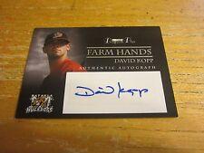 David Kopp 2007 TRISTAR Prospects Plus Farm Hands Autographs #DK Card Cardinals