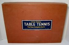 Vintage GOLD MEDAL Table Tennis New Complete Outfit Game TRANSOGRAM CO New York