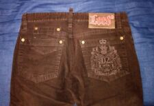 "dsquared ""lord"" corduroy embroidered brown pants F/W 2006-2007 size 48 (jeans)"