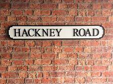 Vintage Wood Street Road Sign HACKNEY ROAD