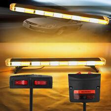 """47"""" 88LED Flashing Strobe Police Light Bar Amber White Roof Beacon Warning Truck"""