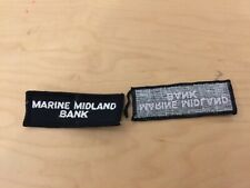 marine midland bank  vintage patch, new old stock ,1960's