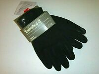 Timberland mens 3M designer goat suede touch finger leather gloves sz:Sm -black