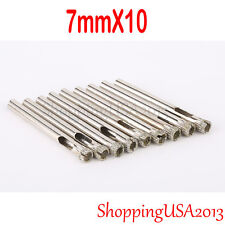 10 pcs 7mm Diamond Coated tool drill bit hole saw set glass ceramic marble tile
