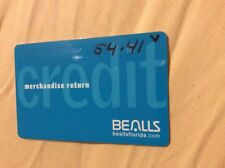 BEALLS DEPT STORE CREDIT OR MERCHANDISE CARD WITH $54.41. CARD DOES NOT EXPIRE