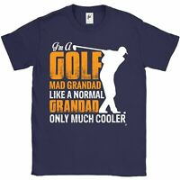 I'm A Golf Mad Grandad Like A Normal But Cooler Fathers Day Mens T-Shirt