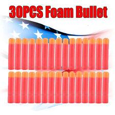 30XRed Refill Foam Bullet Darts For Nerf N-Strike Elite Mega Centurion 9.5cm ETT