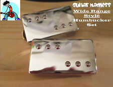Chrome Wide Range Style Alnico 5 Humbucker Set (4-wire)