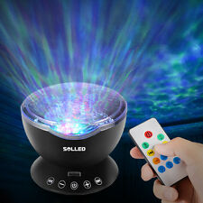 Xmas Ocean Wave Music Projector LED Night Light Remote Lamp Kids Gift Black US