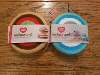 NEW 2 skeins RED HEART Amigurumi yarn Hamburger Narwhal each one makes two