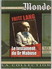 DVD LE TESTAMENT DU Dr MABUSE fritz lang LE CINEMA DU MONDE serie 5 vost