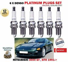FOR MITSUBISHI 3000 GT & GTO 3.0 4G72 1992-1999 PLATINUM DENSO 6 SPARK PLUGS SET