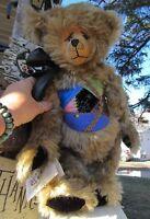 """VINTAGE TEDDY BEAR MOHAIR ARTIST OOAK CINDY KALNOW VICTORIAN BEARLOOMS 18"""" NOEL"""
