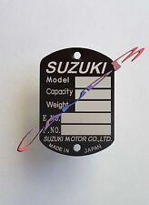 PLAQUE  CONSTRUCTEUR   SUZUKI   T 500 / T350 / T250